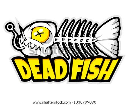 fish bone mascot for logo and t-shirt illustration