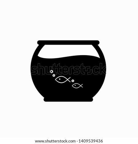Fish bowl icon, vector illustration. Flat design style. vector fish bowl icon illustration isolated on white background, fish bowl icon Eps10. fish bowl icons graphic design vector symbols.