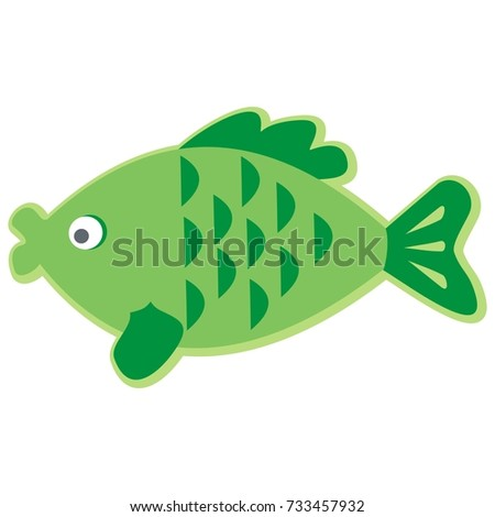 fish  carp  vector icon