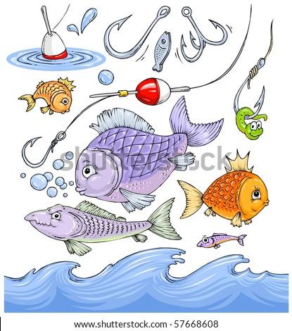 нарисовать рыбака пошагово