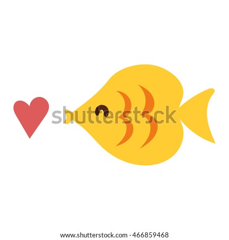 fish flat icon vector isolated