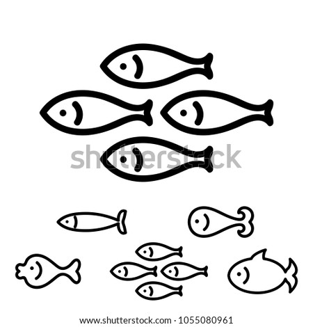 fish icon or logo collection