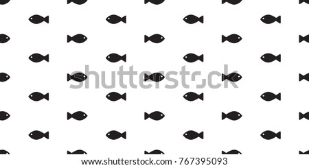 fish icon shark dolphin whale sea ocean vector seamless pattern wallpaper background
