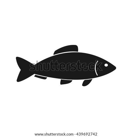 fish icon vector flat vector