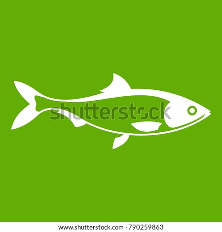 fish icon white isolated on