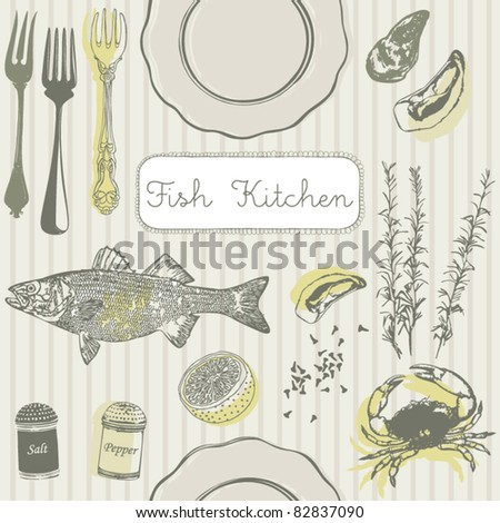fish kitchen card
