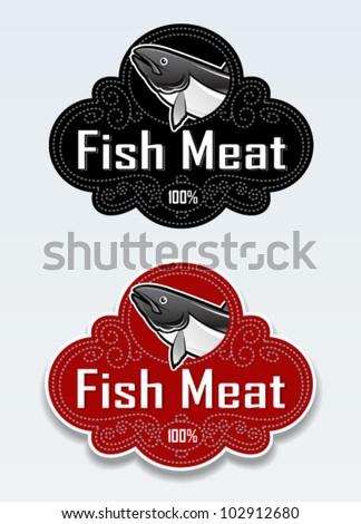 Fish Meat Seal / Sticker