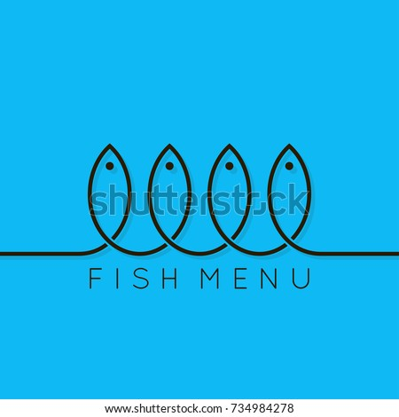 fish menu concept design background