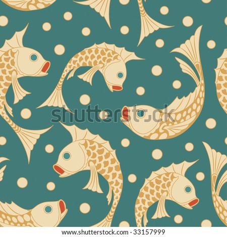 fish pattern in modern style