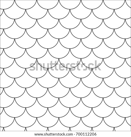 Fish scale motif. Vector art