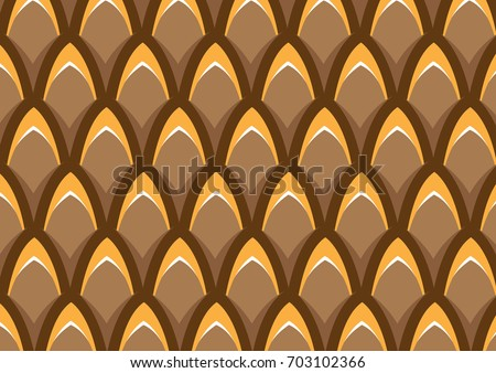fish scale pattern  brown