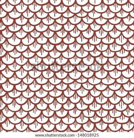 Fish Pattern Drawing Fish Scales Seamless Pattern