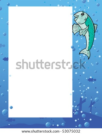 Fish showing flyer.  Anything can be put on flyer.