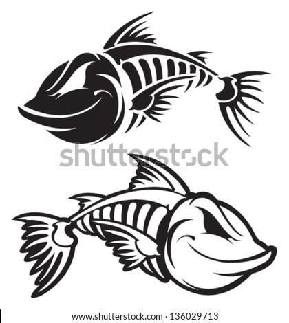 Fish Skeleton Drawing Fish Skeleton