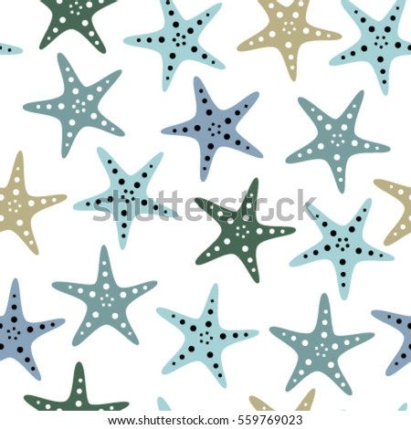 fish stars on transparent