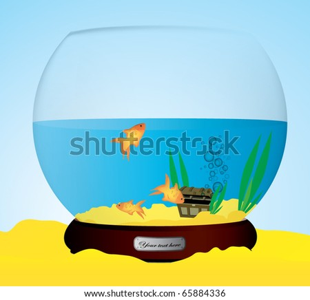 Clip Art Fish Bowl. stock vector : fish tank