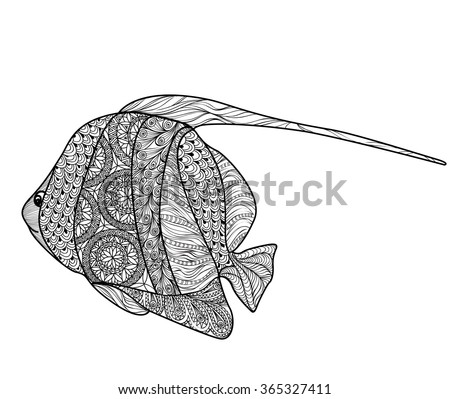 fish tattoo isolated with