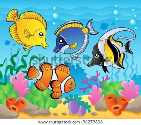 fish theme image 3   vector