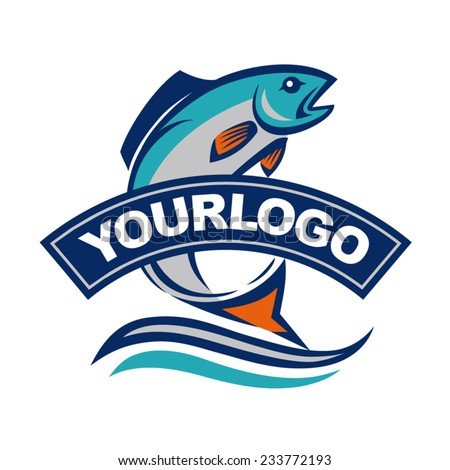 fish vector design logo