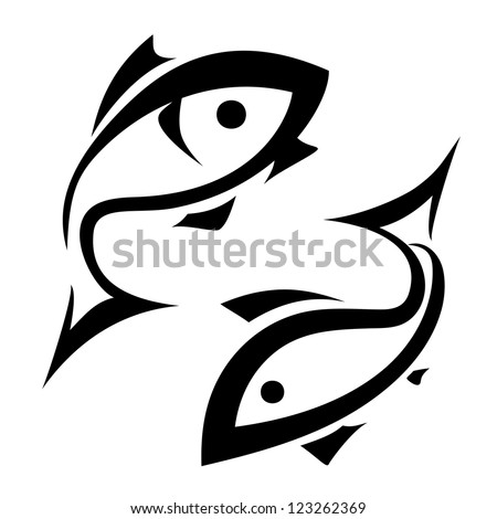 fish vector symbol  isolated