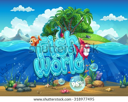 fish world   illustration boot