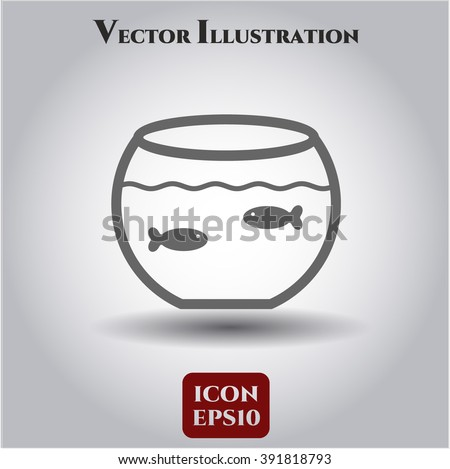 Fishbowl with Fish icon or symbol