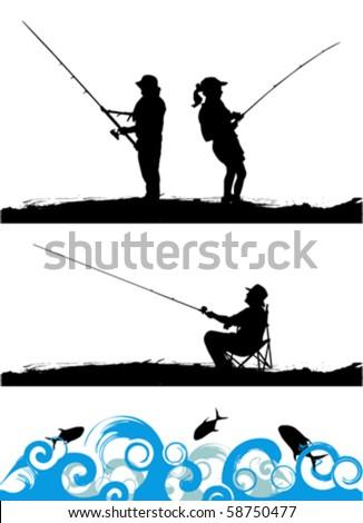 fisher - stock vector