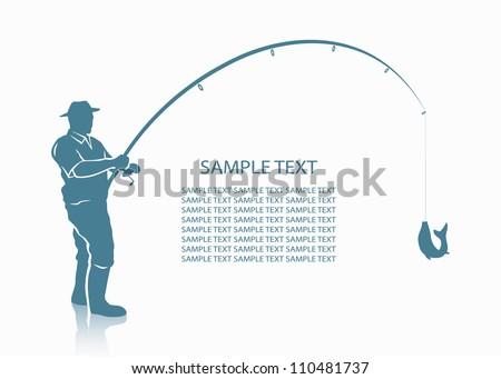 Fisherman background - vector illustration