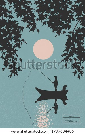 fisherman in boat with dog