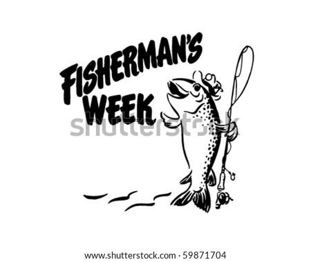 Fisherman's Week - Header - Retro Clip Art