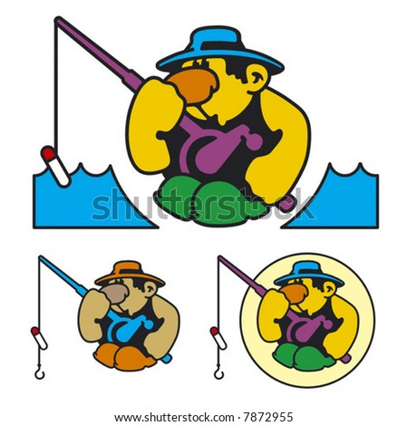 fishing pole cartoon. cartoon fishing pole. cartoon