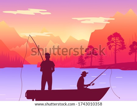 fishermans in fishing boat