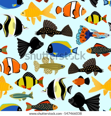 fishes seamless pattern cute