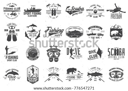 fishing and diving club with