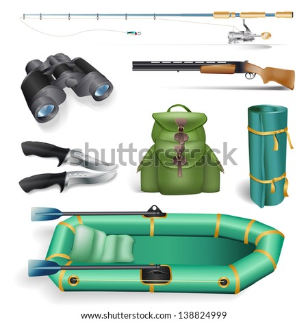 fishing and hunting objects