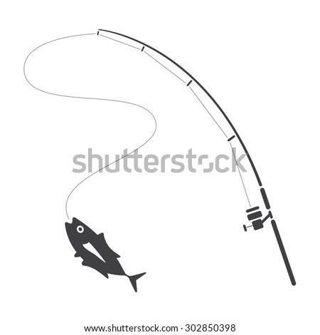 fishing clip art, vector #302850398