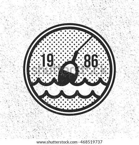 fishing club logo  float on the