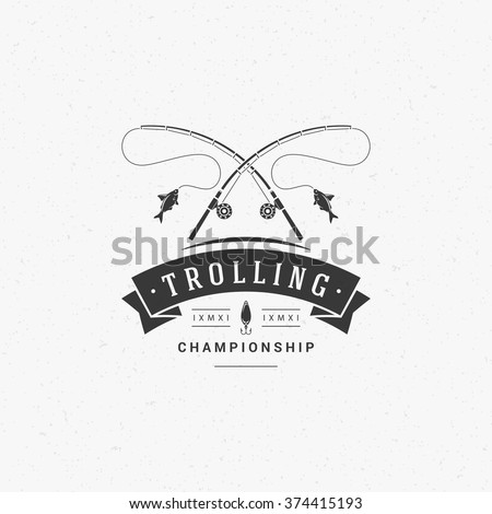 fishing club logo template two