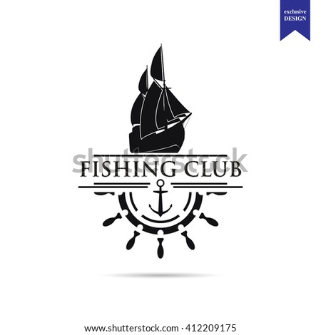 fishing club logo template