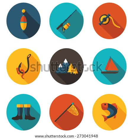 fishing flat icons