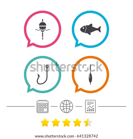 fishing icons fish with