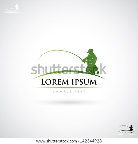 Fishing label vector illustration