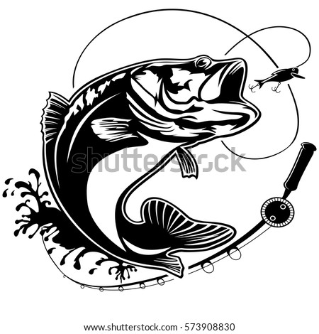fishing logo bass fish club