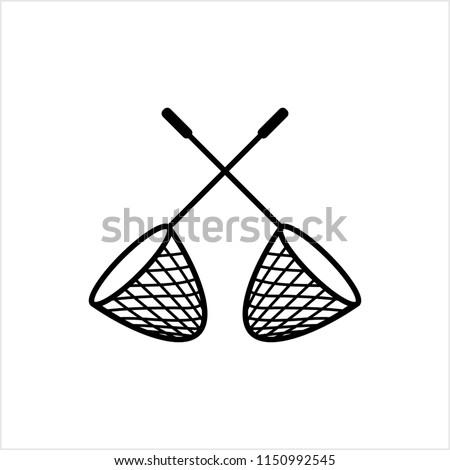 Fishing Net Icon Vector Art Illustration
