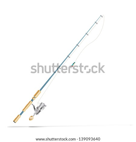 Fishing rod - stock vector