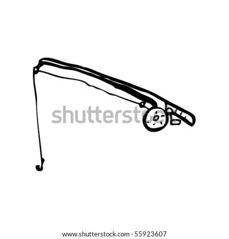 cartoon fishing rod. stock vector : fishing rod