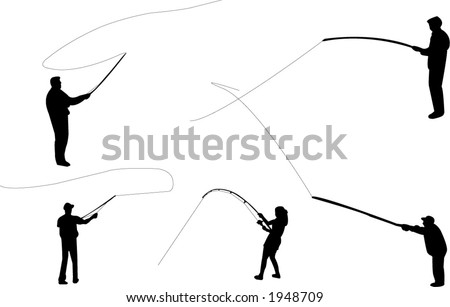 fishing rod clipart. stock vector : Fishing