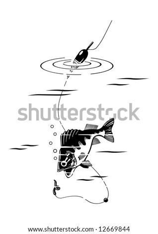 fishing vector - stock vector
