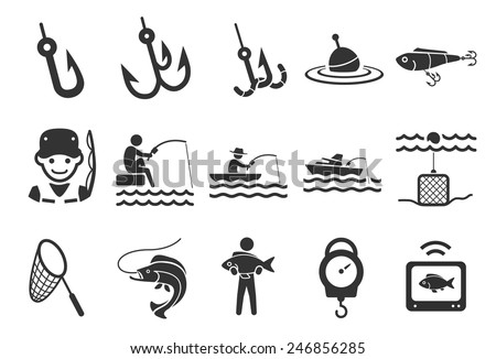 Vector Fishing Icons Download Free Vector Art Stock Graphics Images