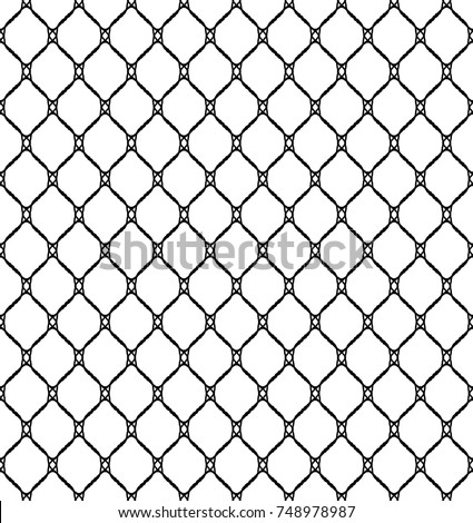 c5d40ce6a Fishnet Seamless Pattern Vector Illustration · Black fisherman rope net vector  seamless texture isolated on white.